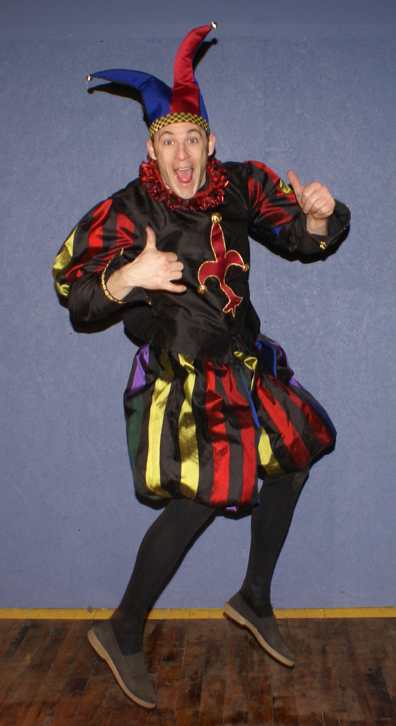 Jumping jester.